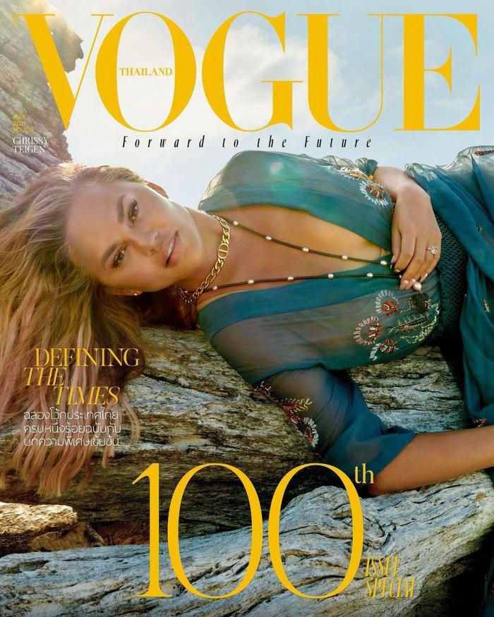 DIY!  Chrissy Teigen fait son propre maquillage pour la couverture de 'Vogue Thailand'