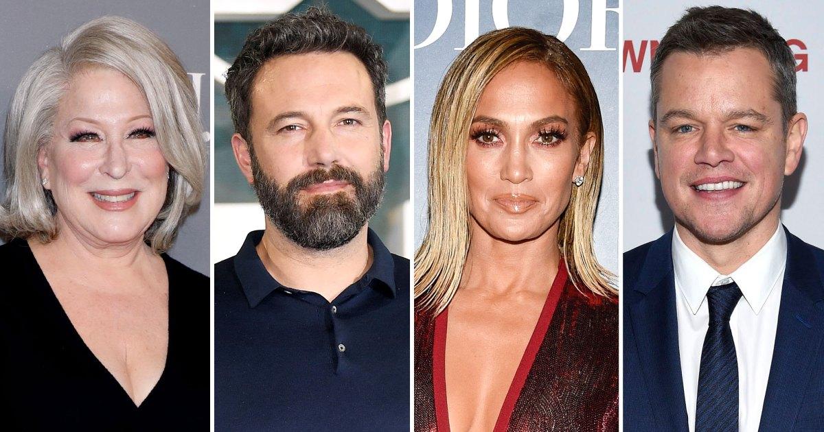 Bette Midler, Matt Damon and More Stars React to Jennifer Lopez and Ben Affleck's Reunion