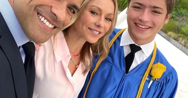 'Empty Nesters' Kelly Ripa and Mark Consuelos Celebrate Son Joaquin's High School Graduation.jpg