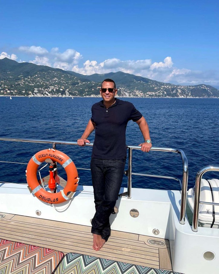 Looking Good A Rod Poses Shirtless After St Tropez Birthday Bash