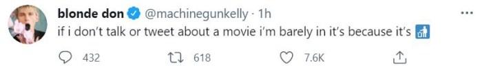 Poubelle!  MGK ombrage apparemment son nouveau film et celui de Megan Fox