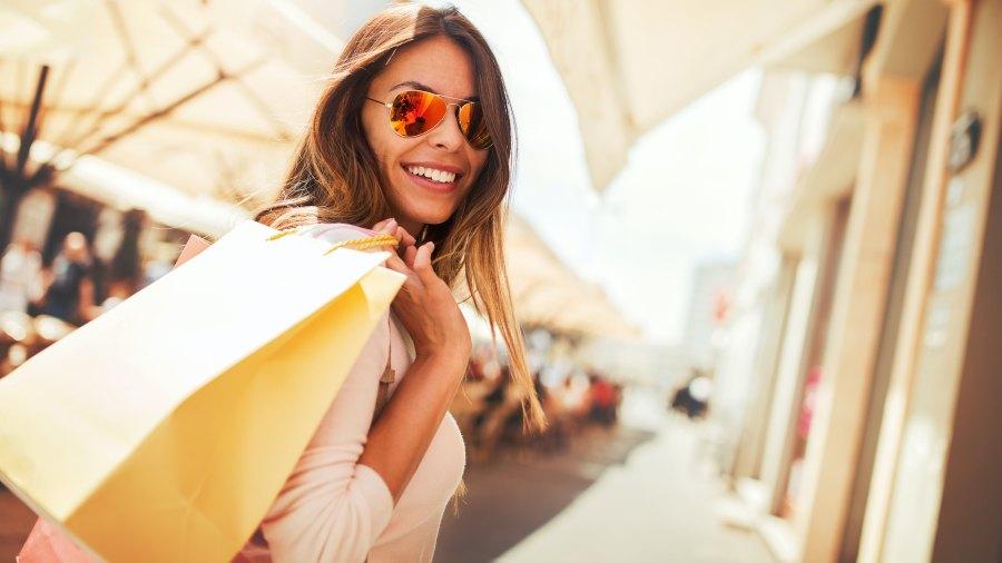 Woman-Shopping-Stock-Photo