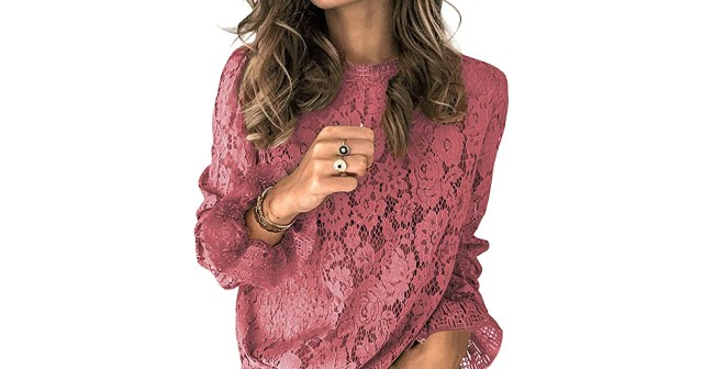Pull Off a Sheer Lace Look for Fall With This Long-Sleeve Blouse.jpg