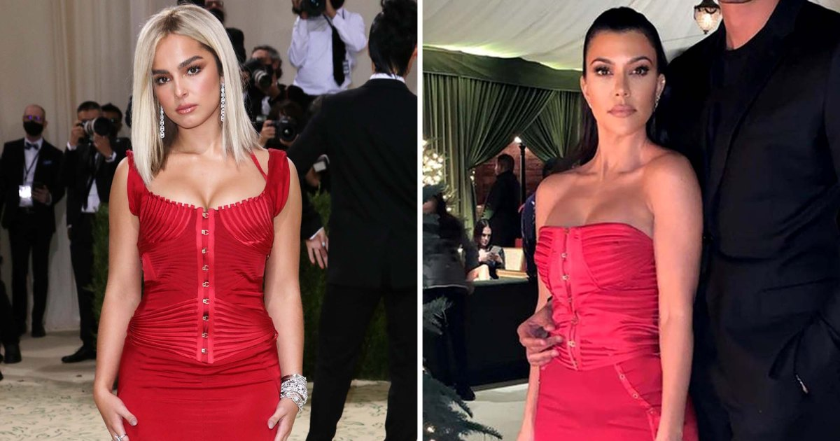 LOL! Fans Are Convinced Addison Rae Wore Kourtney's Kardashian's Christmas Dress to the 2021 Met Gala - Us Weekly