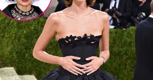 Kaia Gerber Channels Bianca Jagger While Stepping Out at 2021 Met Gala Without BF Jacob Elordi.jpg
