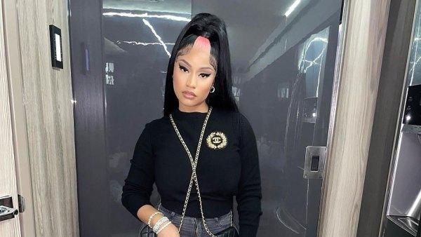 Nicki Minaj's Purple Extensions Basically Hit the Floor — Here's Proof