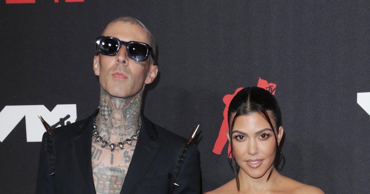 Kourtney Kardashian Supports Travis Barker at 'Saturday Night Live' 1 Week After Kim Poked Fun at Their PDA