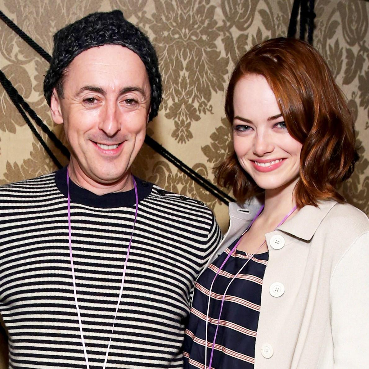 Emma Stone and Alan Cumming