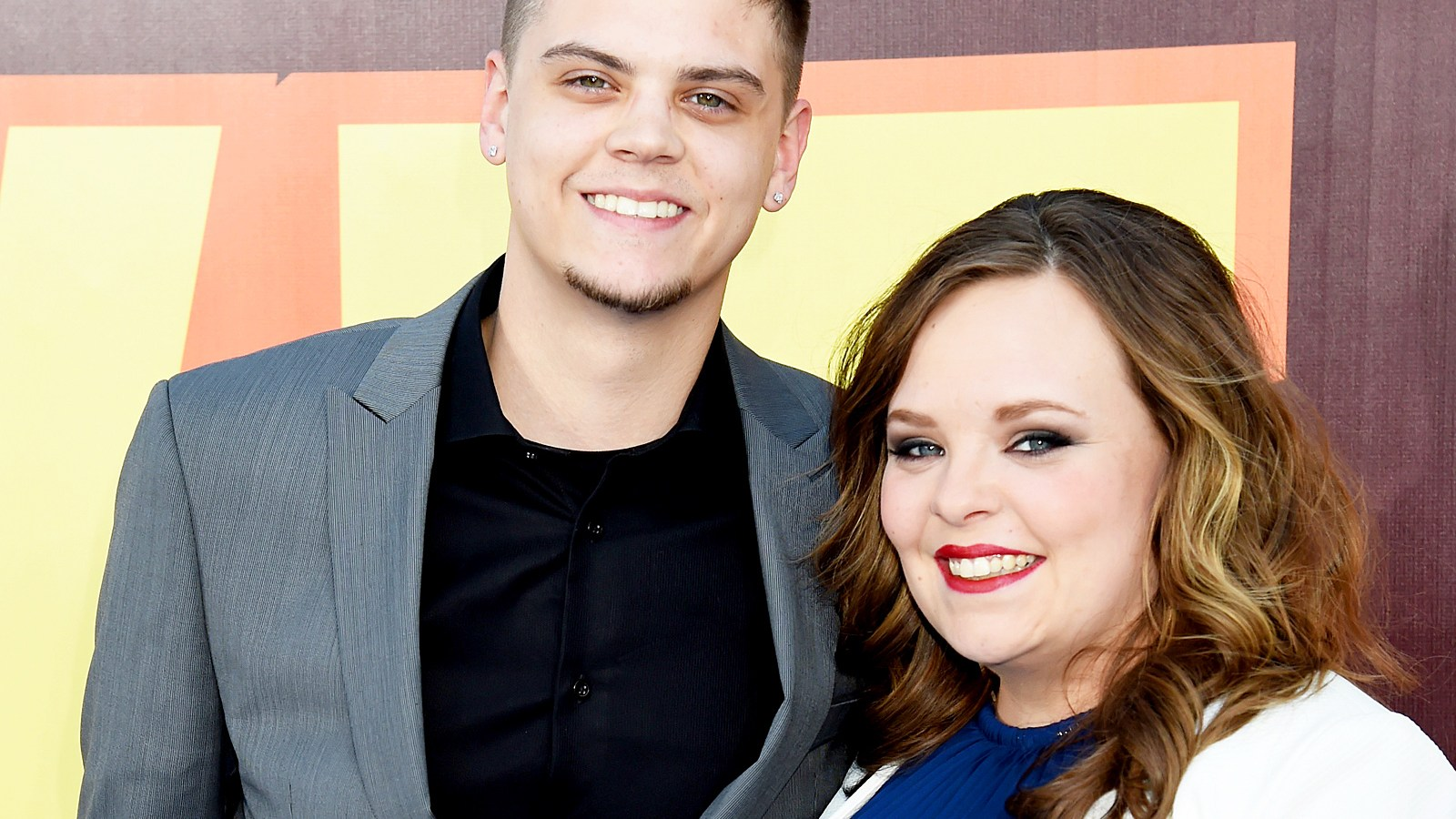 Tyler Baltierra and Catelynn Lowell attend The 2015 MTV Movie Awards in Los Angeles, California.