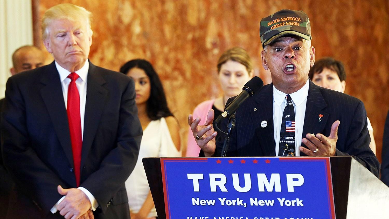 Al Baldasaro and Donald Trump