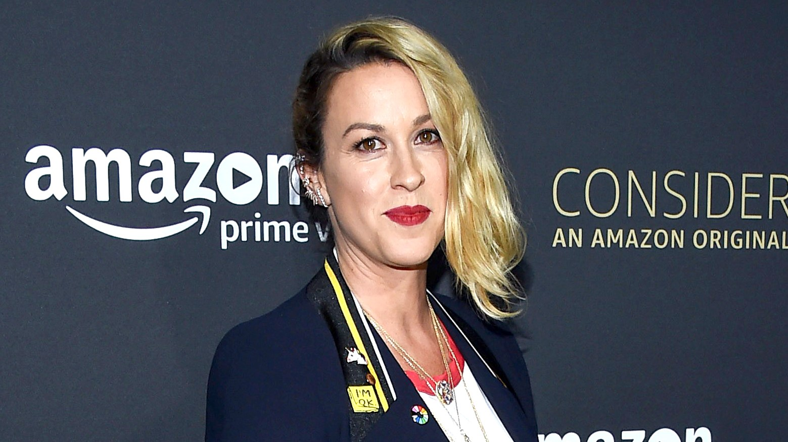 Alanis Morissette arrives at the FYC event for Amazon Video's 'Transparent' held at the Hollywood Athletic Club in Hollywood, California on April 22, 2017.