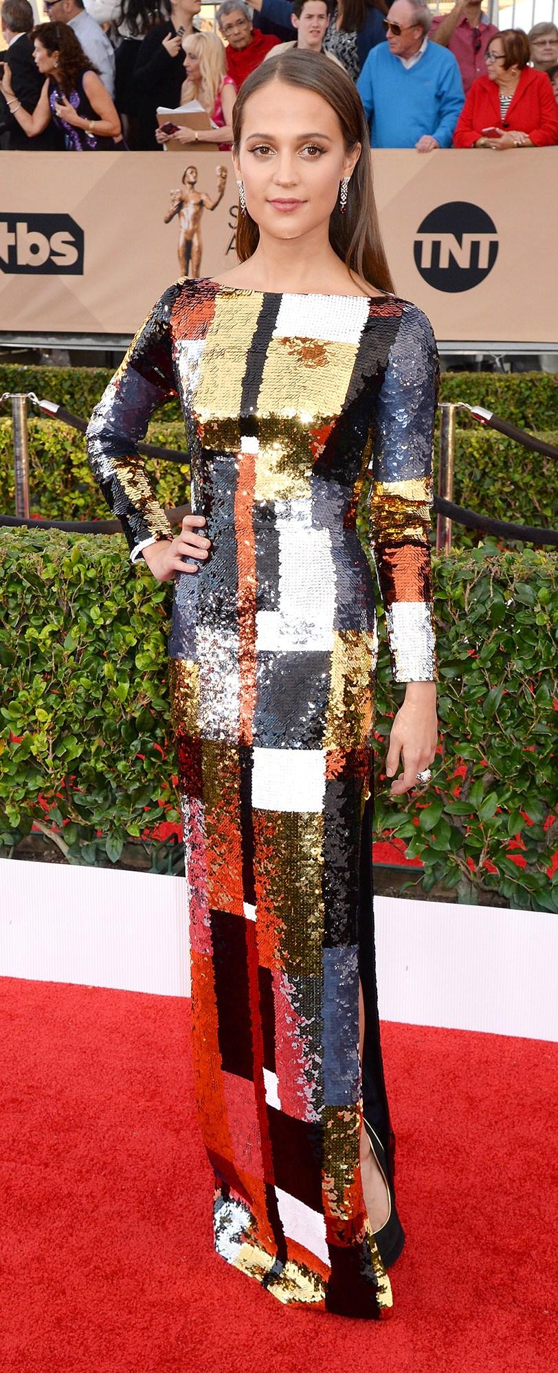 Alicia Vikander SAG Award Dress