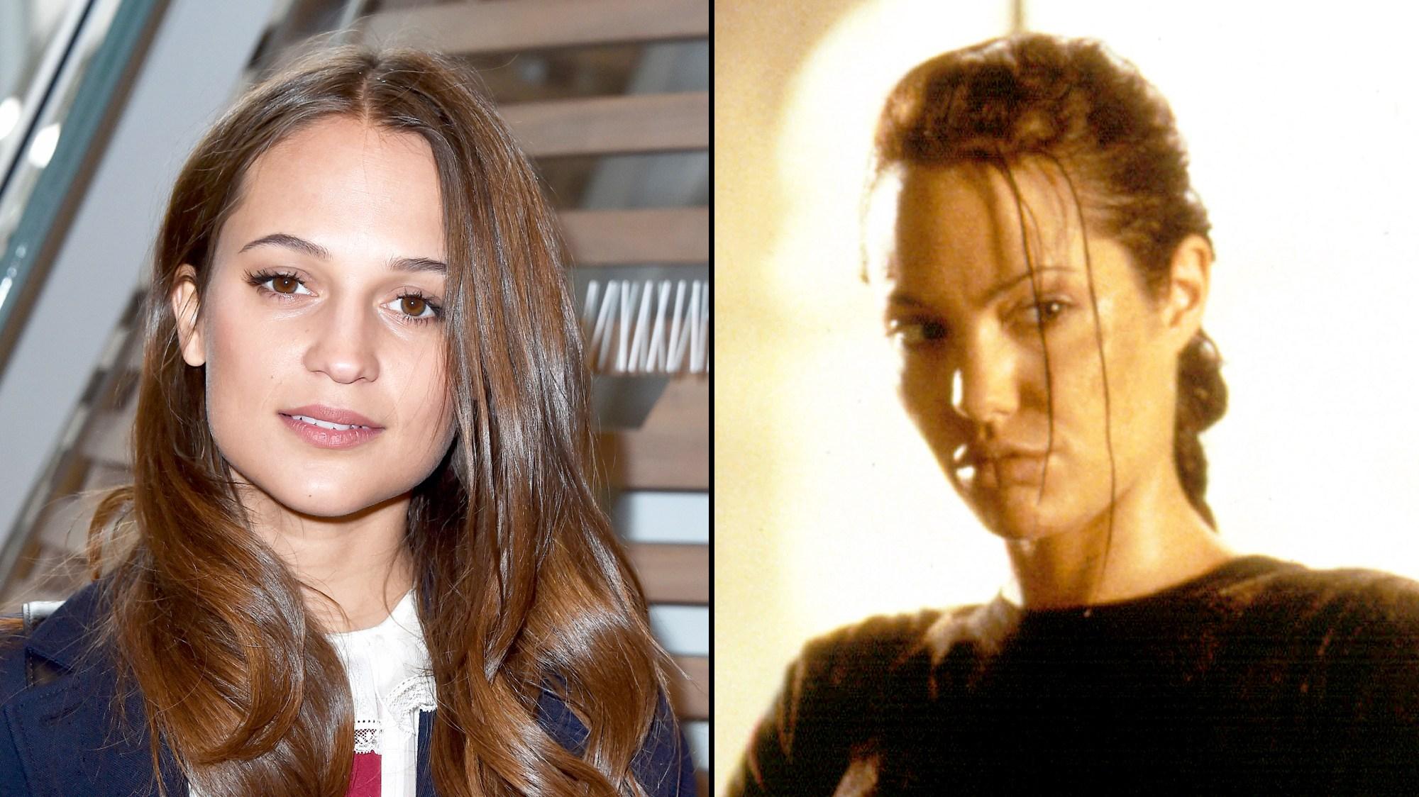 Alicia Vikander and Angelina
