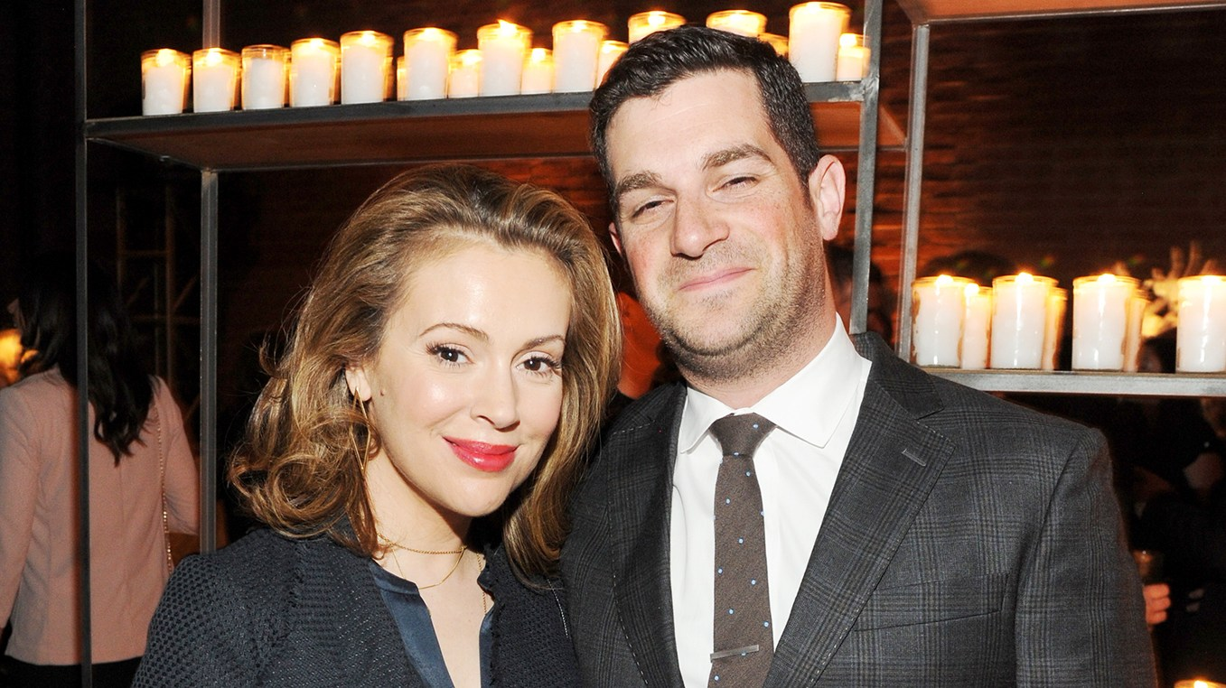 Alyssa Milano and Dave Bugliari