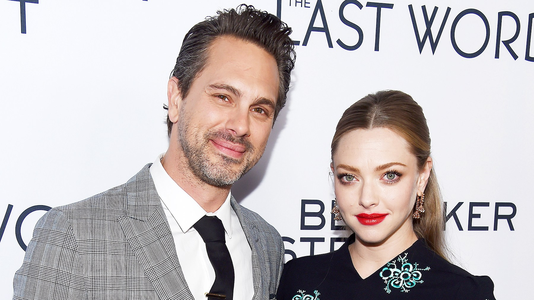 "Thomas Sadoski and Amanda Seyfried arrive at the premiere of Bleecker Street Media's ""The Last Word"" at ArcLight Hollywood on March 1, 2017 in Hollywood, California."