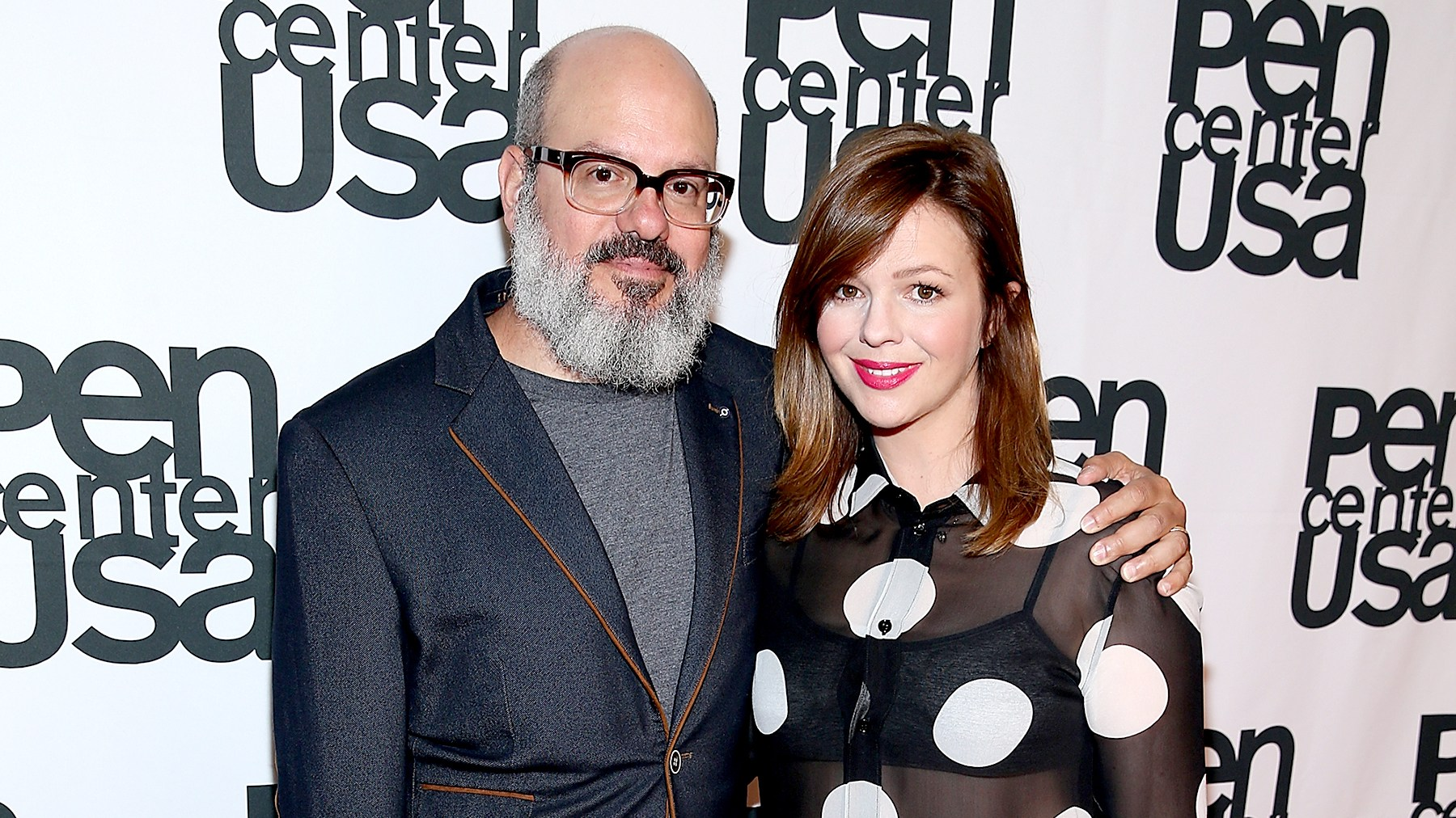 David Cross and Amber Tamblyn attend PEN Center USA's 26th Annual Literary Awards Festival honoring Isabel Allende at the Beverly Wilshire Four Seasons Hotel on September 28, 2016 in Beverly Hills, California.