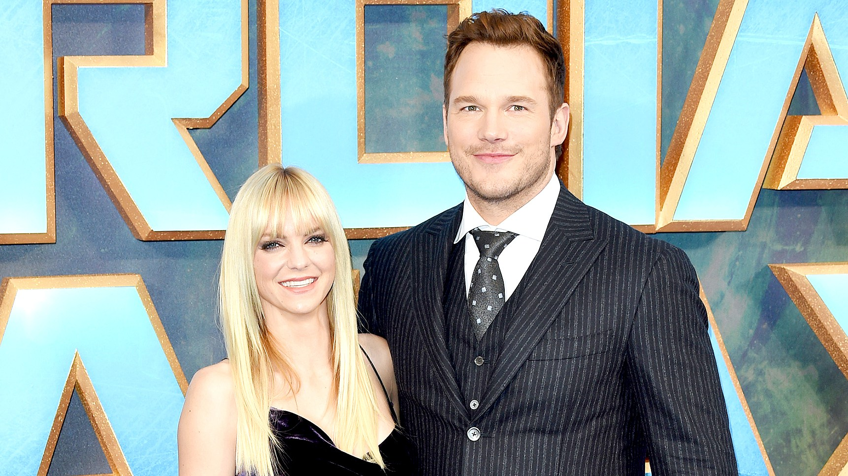 "Chris Pratt and Anna Faris attend the UK screening of ""Guardians of the Galaxy Vol. 2"" at Eventim Apollo on April 24, 2017 in London, United Kingdom."