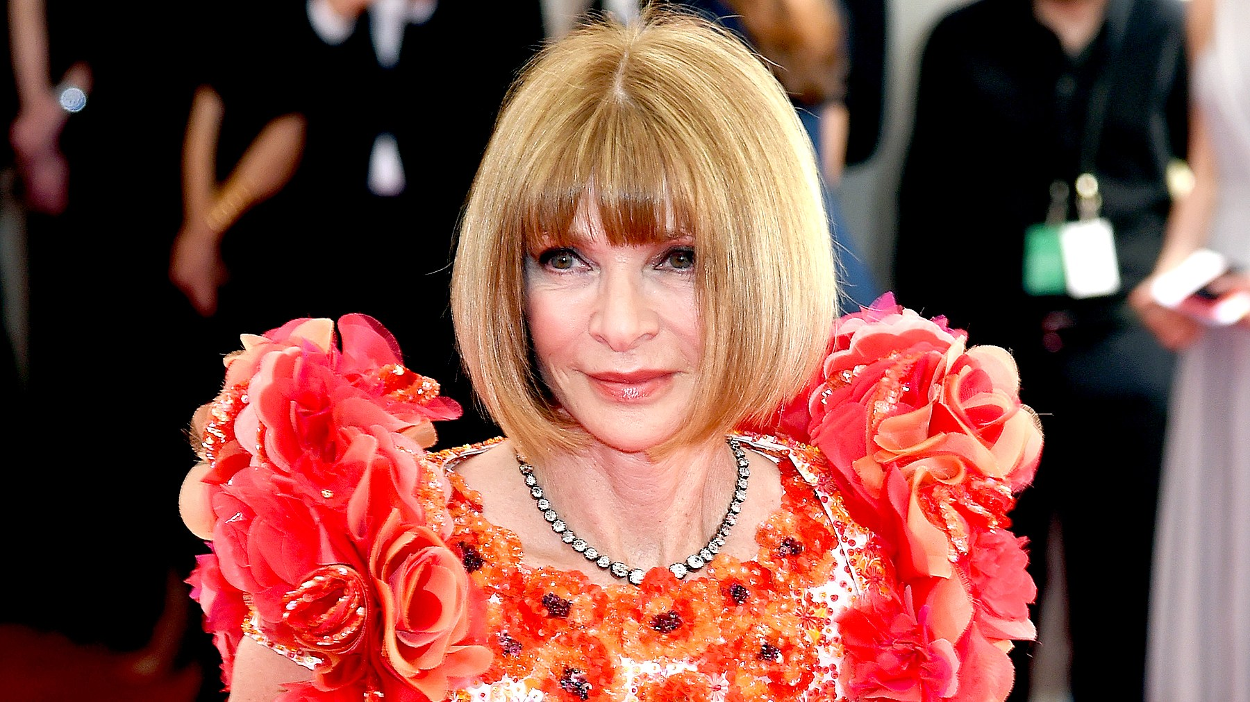 """Anna Wintour attends the """"China: Through The Looking Glass"""" Costume Institute Benefit Gala at the Metropolitan Museum of Art on May 4, 2015."""