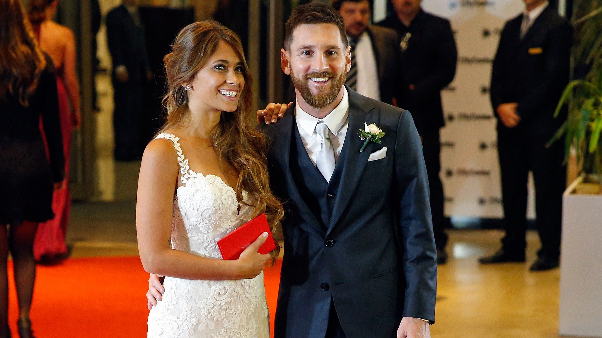 Lionel Messi and Antonela Rocuzzo