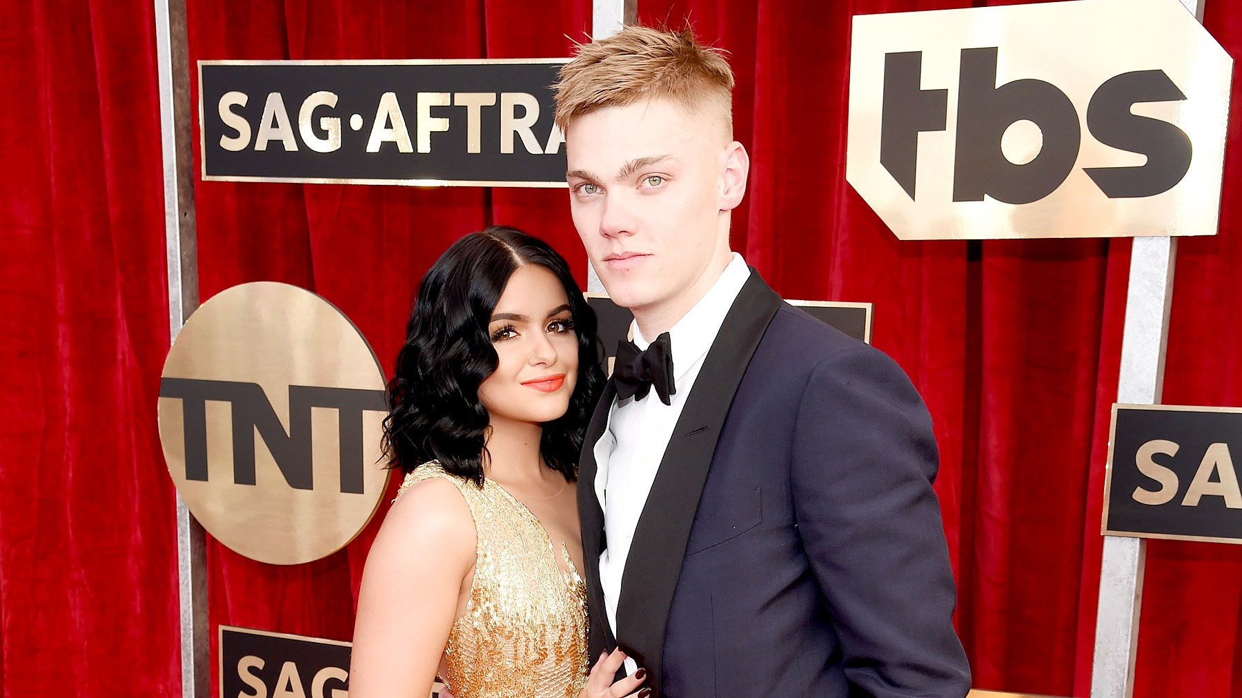 Ariel Winter and Levi Meaden attend The 23rd Annual Screen Actors Guild Awards at The Shrine Auditorium on January 29, 2017 in Los Angeles, California.