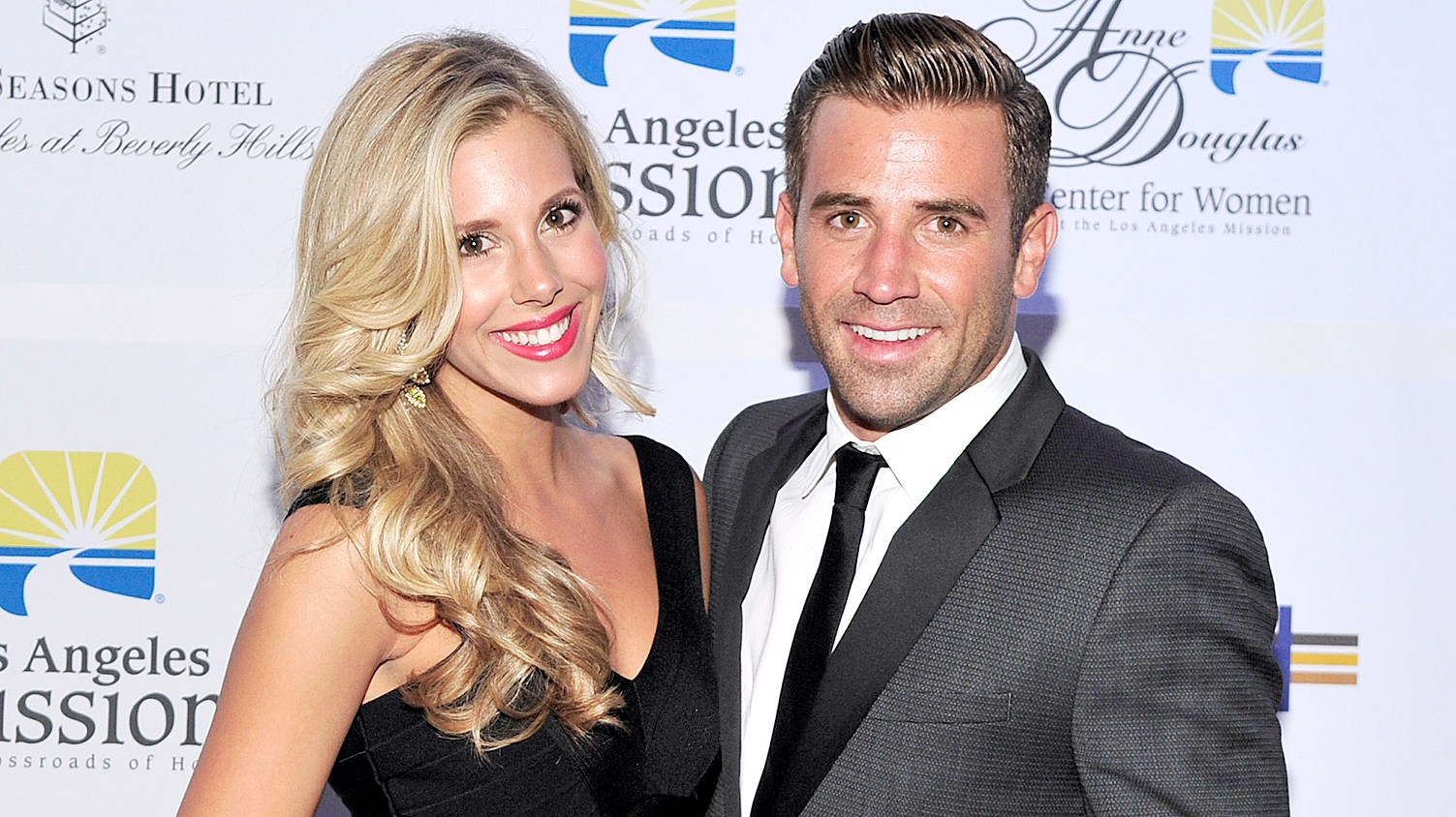 """Ashley Slack and Jason Wahler attend the Los Angeles Mission's """"Legacy of Vision"""" Gala at the Four Seasons Hotel Beverly Hills on September 24, 2013 in Beverly Hills, California."""