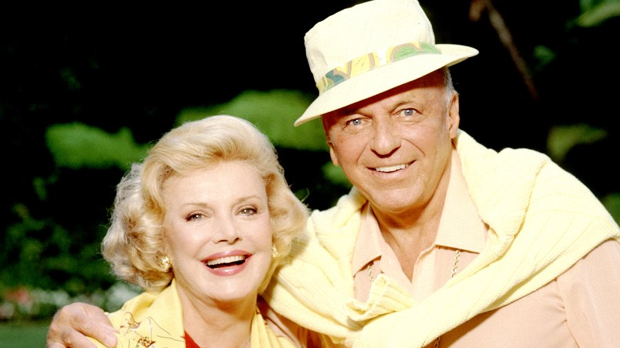 Frank Sinatra and Barbara Sinatra pose for a portrait in Los Angeles in 1990.