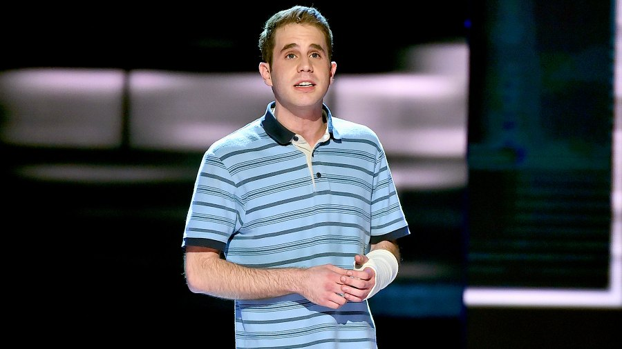"Ben Platt performs with the cast of ""Dear Evan Hansen"" onstage during the 2017 Tony Awards at Radio City Music Hall on June 11, 2017 in New York City."