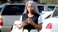 Blac Chyna is spotted out and about for the first time since giving birth to her daughter Dream with Rob Kardashian in Los Angeles, California on November 19, 2016..