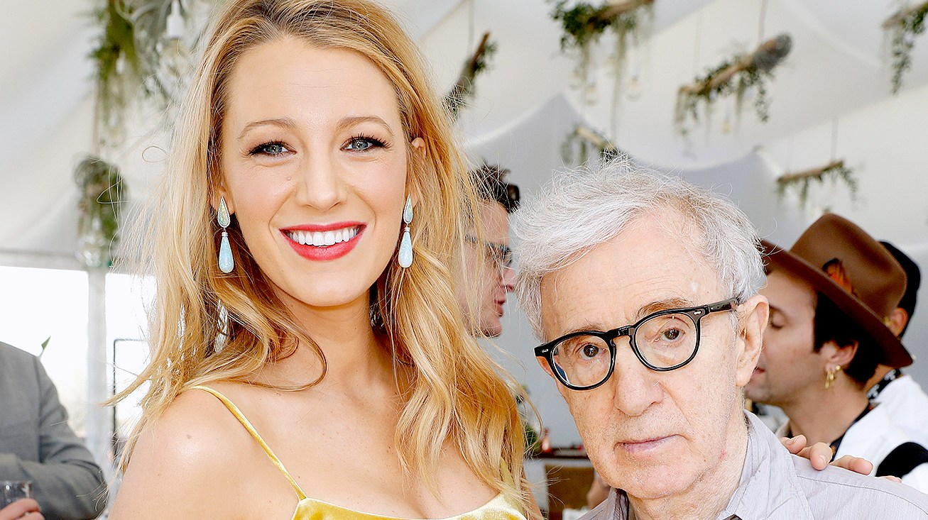 "Blake Lively and director Woody Allen attend the Amazon Studios ""Cafe Society"" press luncheon during the 69th annual Cannes film festival on May 12, 2016 in Cannes, France."