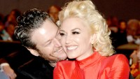 Blake Shelton and Gwen Stefani attend the 2016 Pre-GRAMMY Gala and Salute to Industry Icons honoring Irving Azoff at The Beverly Hilton Hotel on February 14, 2016 in Beverly Hills, California.