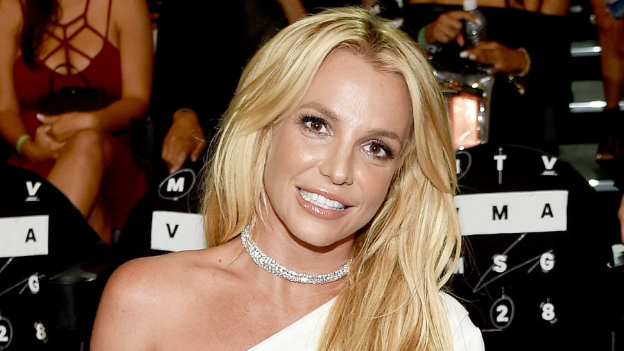 Britney Spears attends the 2016 MTV Music Video Awards.