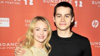 """Britt Robertson and Dylan O'Brien arrive at """"The First Time"""" Premiere at Eccles Center Theatre on January 21, 2012 in Park City, Utah."""