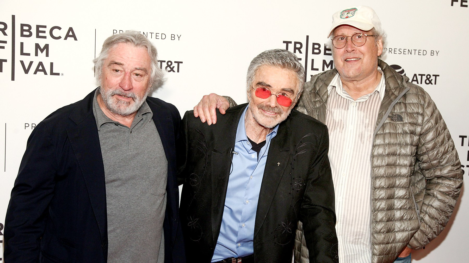 "Robert De Niro, from left, Burt Reynolds and Chevy Chase attend the screening of ""Dog Years"", during the 2017 Tribeca Film Festival, at Cinepolis Chelsea on Saturday, April 22, 2017, in New York."