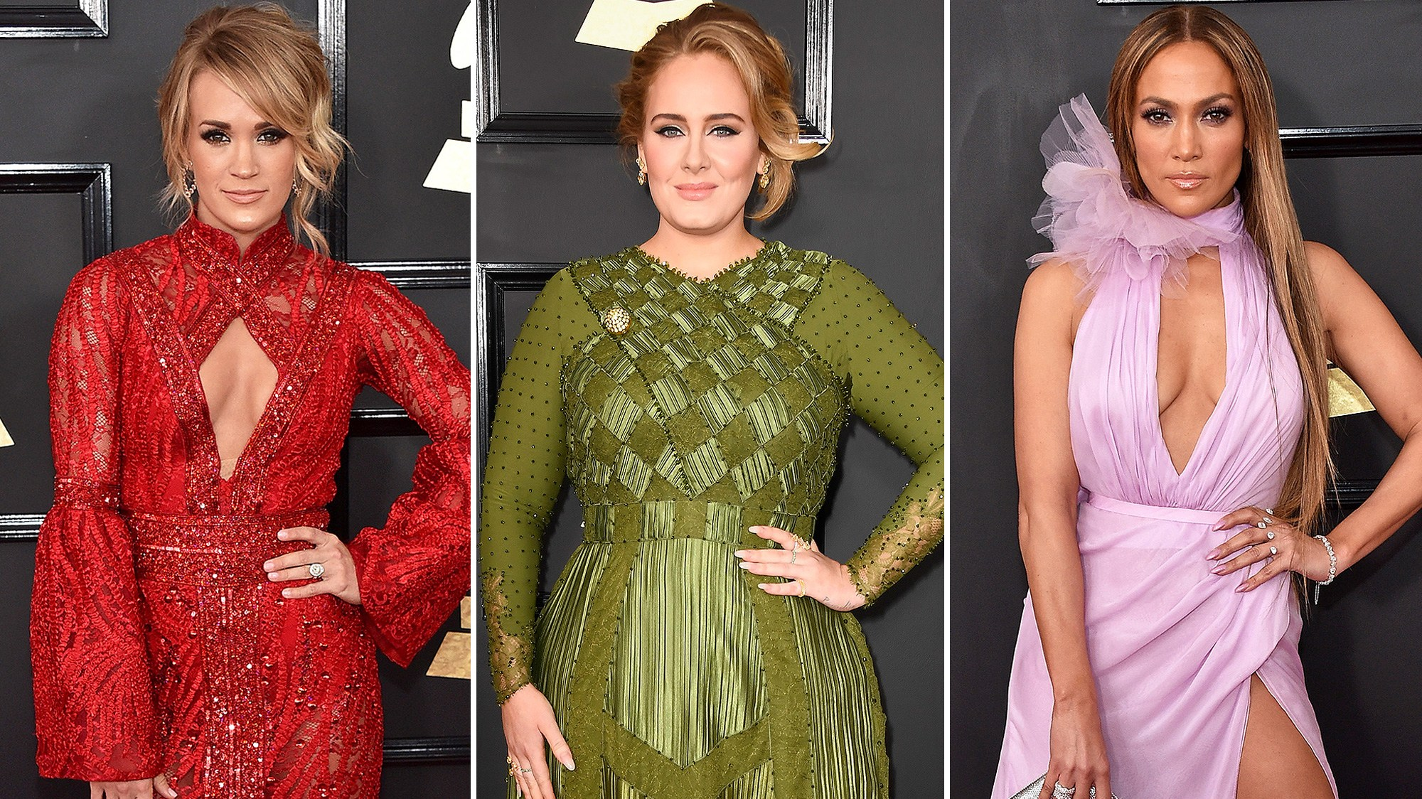 Carrie Underwood, Adele and Jennifer Lopez