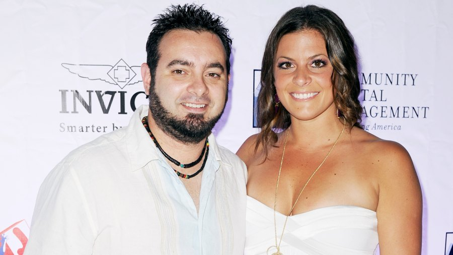 Chris Kirkpatrick and Karly Kirkpatrick arrive at 2013 Jason Taylor Celebrity Golf Classic white party at Seminole Hard Rock Hotel & Casino ? Hard Rock Cafe Hollywood on February 24, 2013 in Hollywood, Florida.