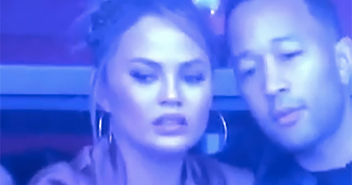 Chrissy Teigen Suffers a Nip Slip at the Super Bowl and She Couldn't Care Less