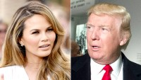 Chrissy Teigen and Donald Trump