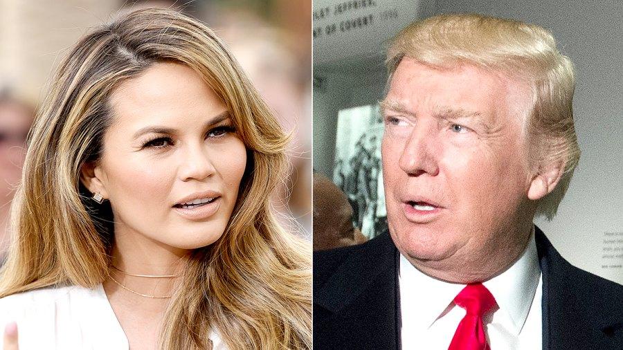 Chrissy Teigen and Donald Trump