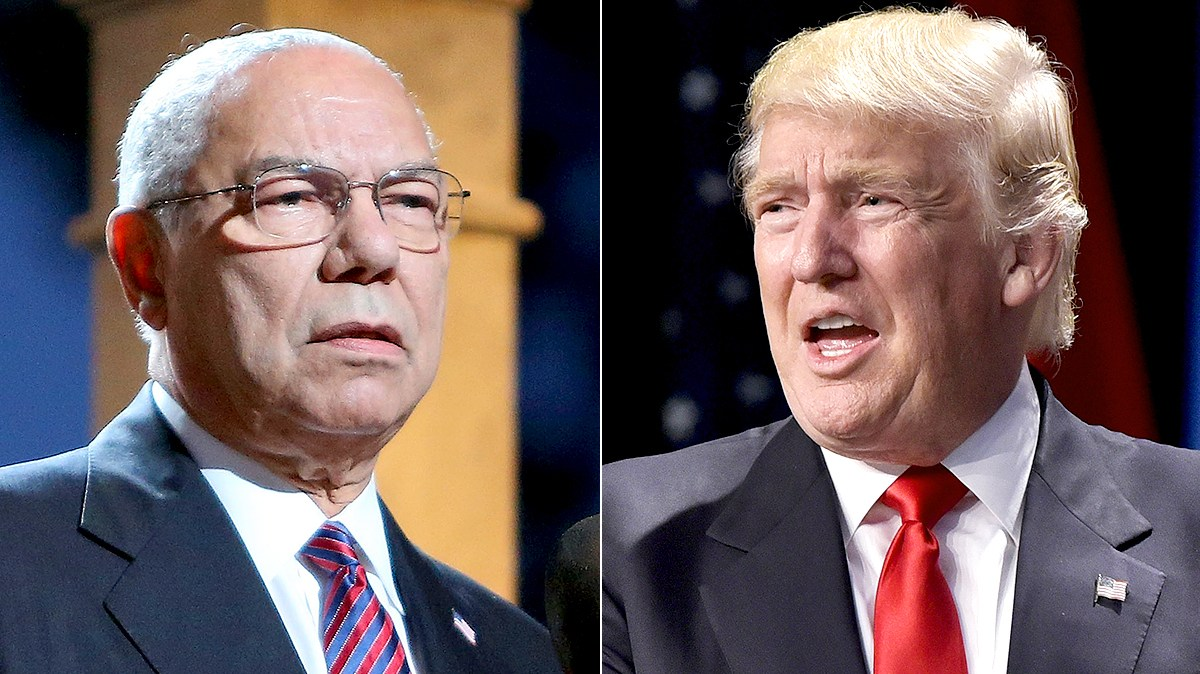 General Colin Powell and Donald Trump