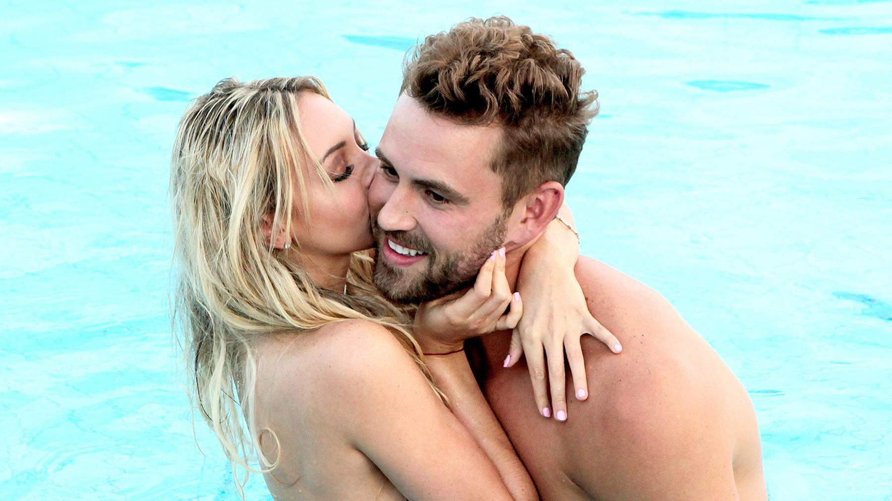 Corinne and Nick Viall on The Bachelor