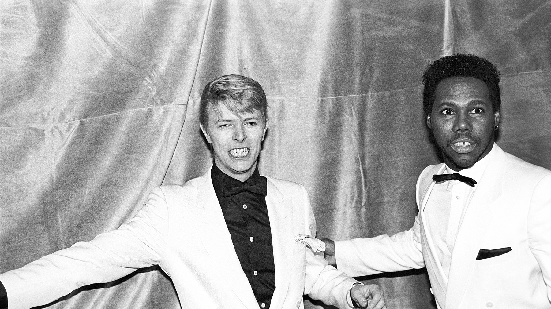 David Bowie and Nile Rodgers in 1983