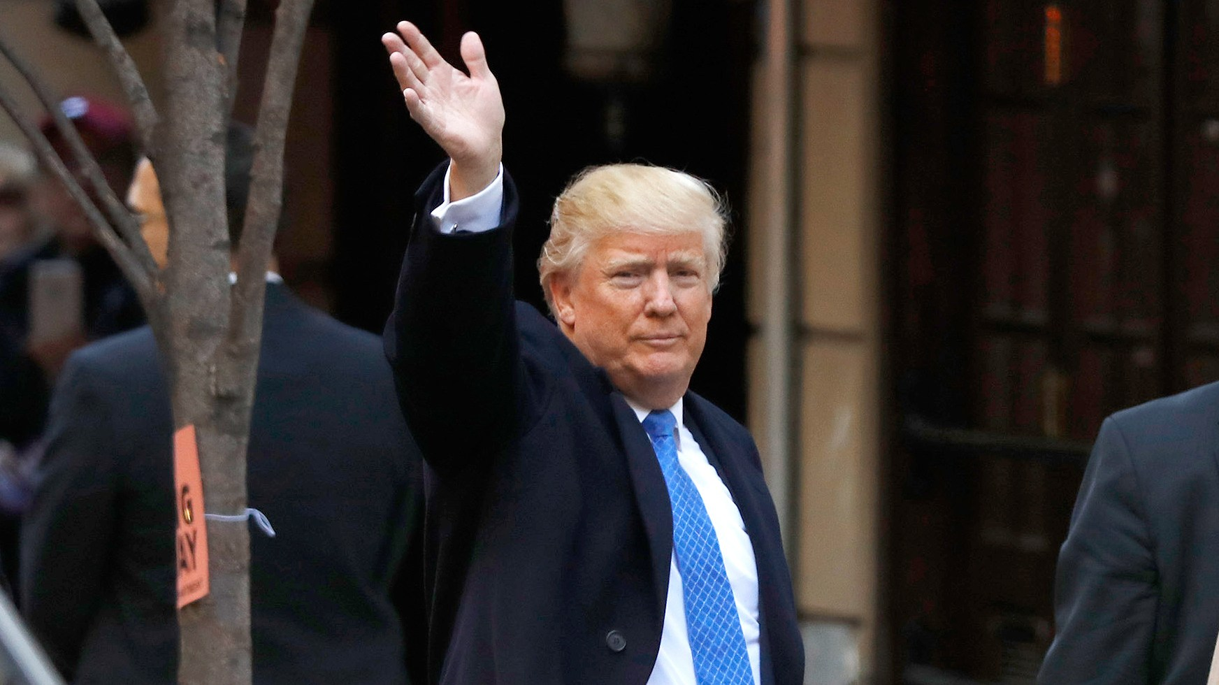Republican presidential nominee Donald Trump arrives to vote at the Beckman Hill International School in New York City. After a contentious campaign season, Americans go to the polls today to choose the next president of the United States.