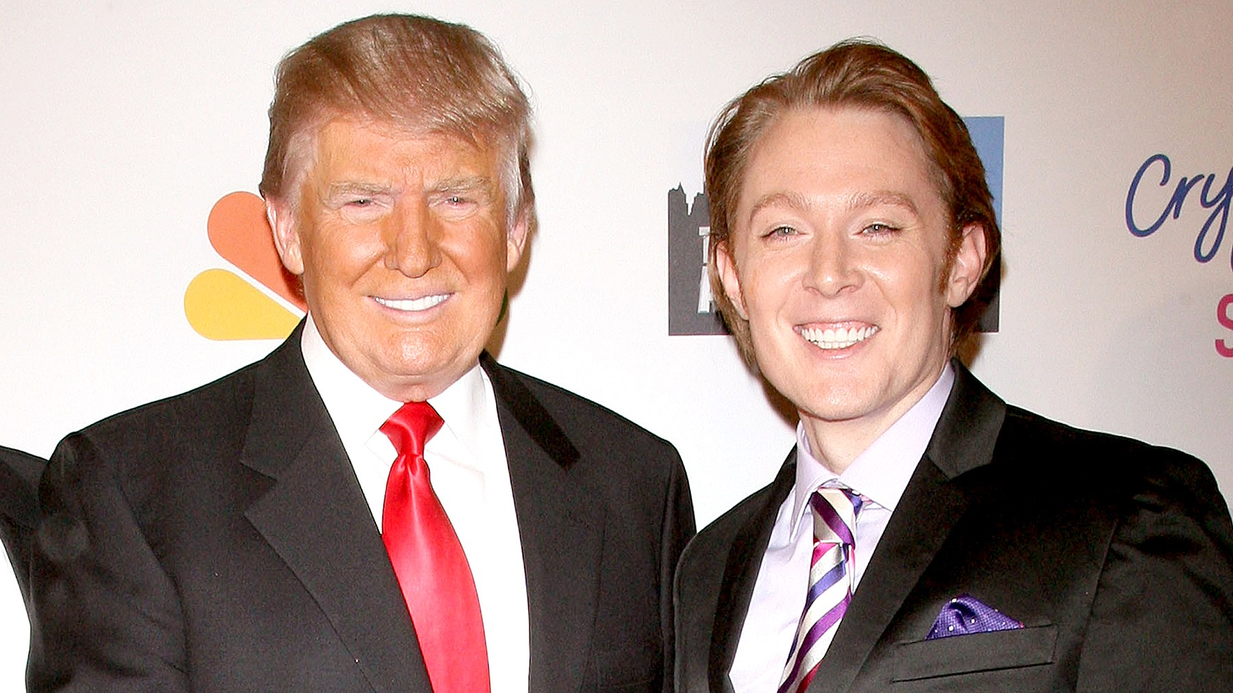 """Donald Trump and Clay Aiken attend the """"Celebrity Apprentice"""" Live Finale at American Museum of Natural History on May 20, 2012 in New York City."""