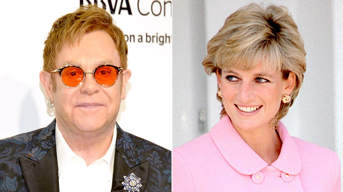 Elton John and Princess Diana