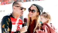 Evan Ross and Ashlee Simpson with their daughter Jagger Snow Ross attend Operation Smile's Celebrity Ski & Smile Challenge Presented By The Rodosky Family on March 11, 2017 in Park City, Utah.
