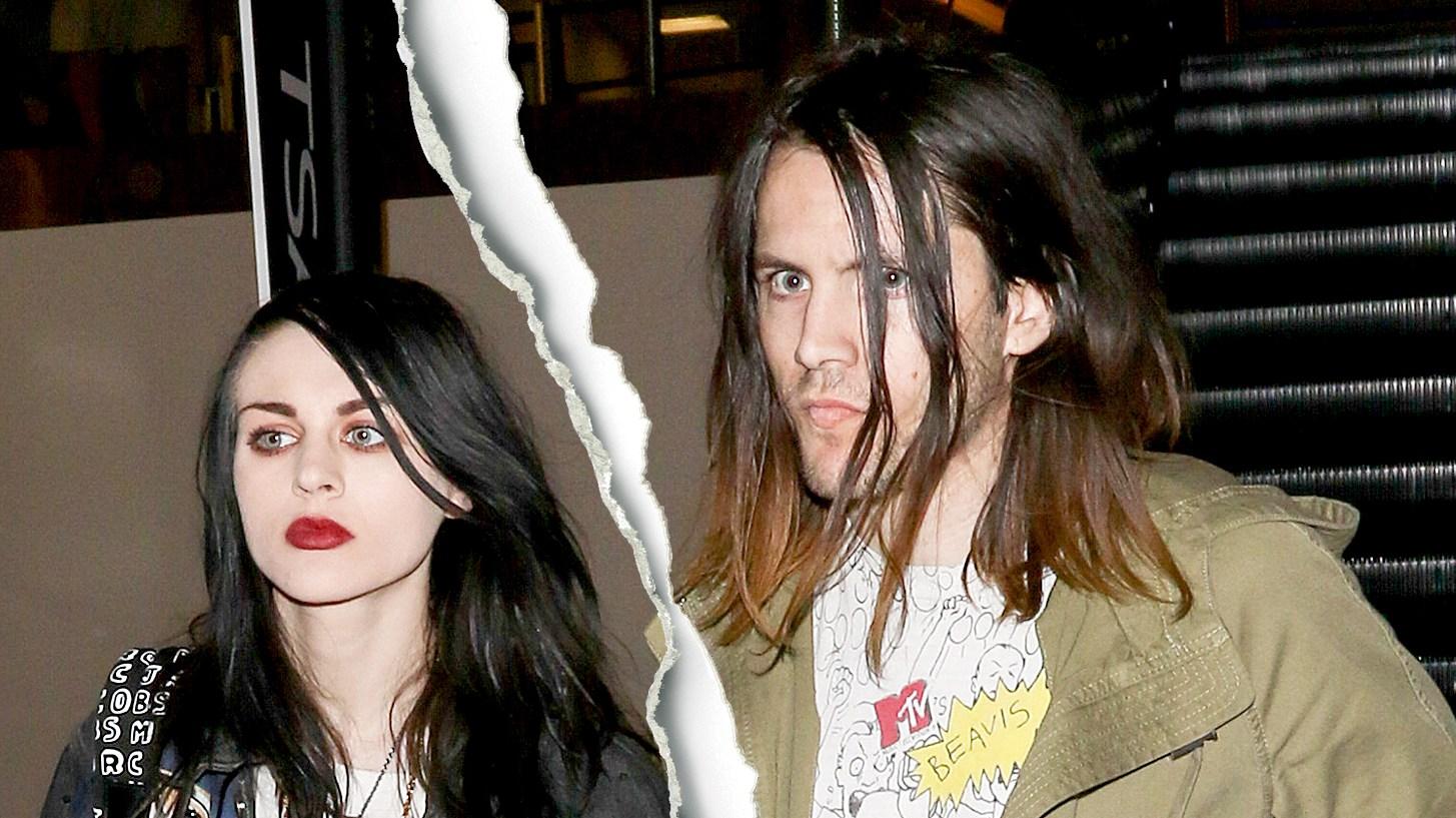 Frances Bean Cobain and Isaiah Silva are seen at LAX on January 26, 2015.