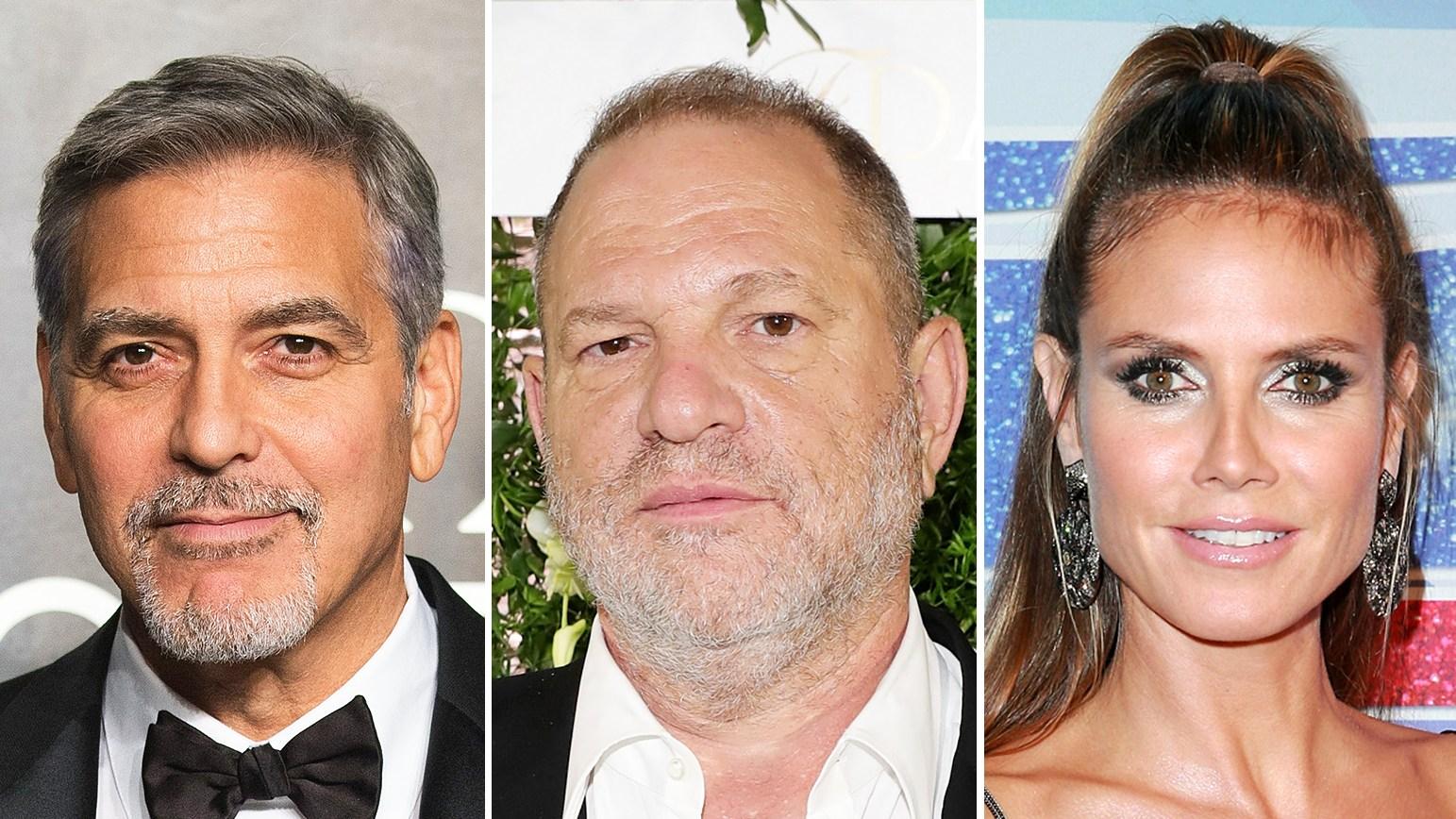 George Clooney Harvey Weinstein Heidi Klum