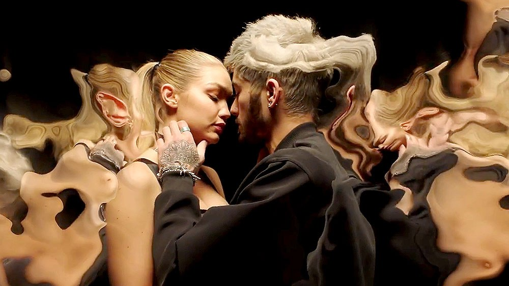 Gigi Hadid and Zayn Malik make out in the new video for 'Pillowtalk.'