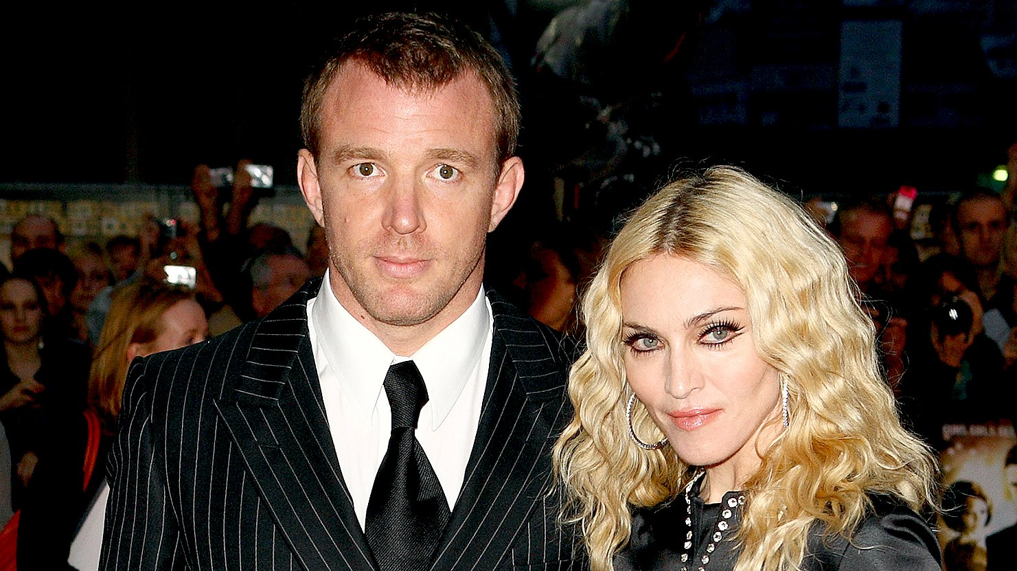 Guy Ritchie and Madonna arrive at the World Premiere of 'RocknRolla' at the Odeon West End on September 1, 2008.