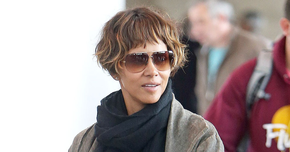 Halle Berry Gets Ear Length Bob Haircut With Blunt Bangs
